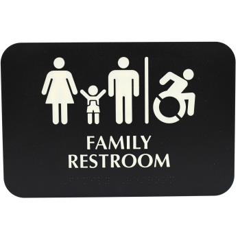 TAB695651 - Tablecraft - 695651 - Family Restroom Sign Product Image