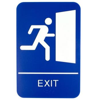 1785 - Update  - S69B-10BL - 6 in x 9 in Braille Exit Sign Product Image