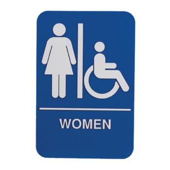 38542 - Update - S69B-1BL - 6 in x 9 in ADA Women's Restroom Sign Product Image