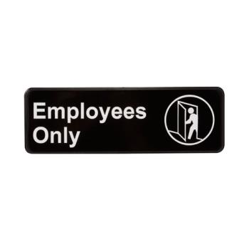 13835 - Vollrath - 4506 - 3 in x 9 in Employees Only Sign Product Image