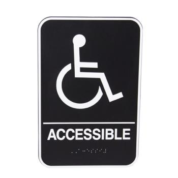 13837 - Vollrath - 5632 - 9 in x 6 in Accessible Sign Product Image