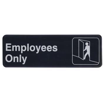 WINSGN305 - Winco - SGN-305 - 3 in x 9 in Employees Only Sign Product Image