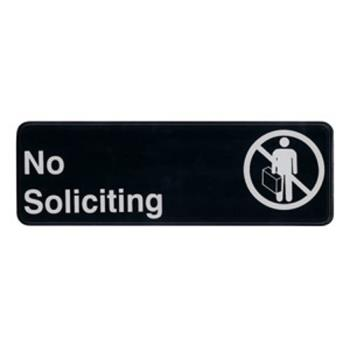 WINSGN319 - Winco - SGN-319 - 3 in x 9 in No Soliciting Sign Product Image