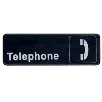 WINSGN325 - Winco - SGN-325 - 3 in x 9 in Telephone Sign Product Image