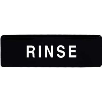 SGN327 - Winco - SGN-327 - 3 in x 9 in Rinse Sign Product Image