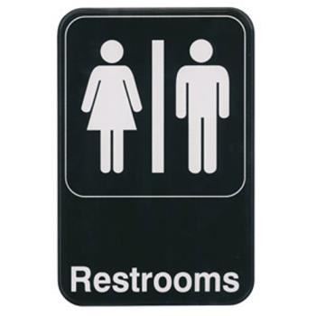 WINSGN603 - Winco - SGN-603 - 6 in x 9 in Restrooms Sign Product Image