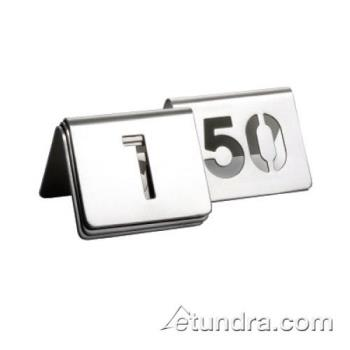 89104 - Tablecraft - TC150 - 1 - 50 Cut Out Numbered Stainless Steel Table Tents Product Image