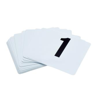86463 - Update - PTN4/1-25 - White Table Number Set - 1-25 Product Image