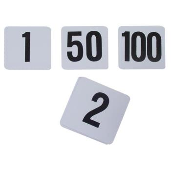 86453 - Winco - TBN-100 - White Table Number Set - 1-100 Product Image