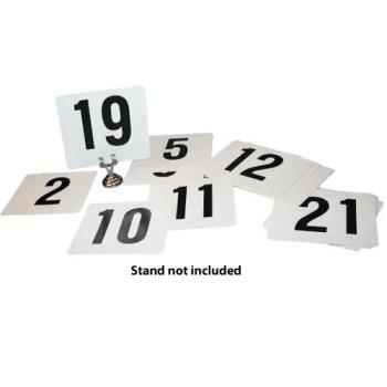 WINTBN25 - Winco - TBN-25 - Plastic Table Number Set -  1-25 Product Image