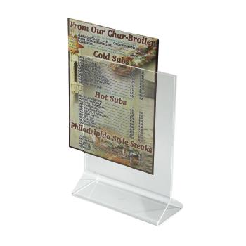 WINATCH57 - Winco - ATCH-57 - 5 in x 7 in Table Card Holder Product Image