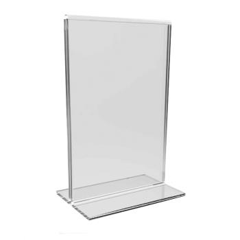 86508 - Winco - ATCH-811 - 8 1/2 in x 11 in Clear Table Top Menu Holder Product Image
