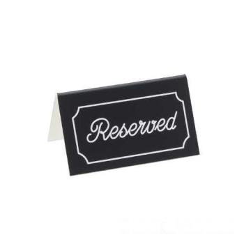 CLM27310 - Cal-Mil - 273-10 - Silver Two-Sided Engraved Reserved Message Tent Product Image