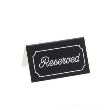 CLM2732 - Cal-Mil - 273-2 - Black Two-Sided Engraved Reserved Message Tent Product Image
