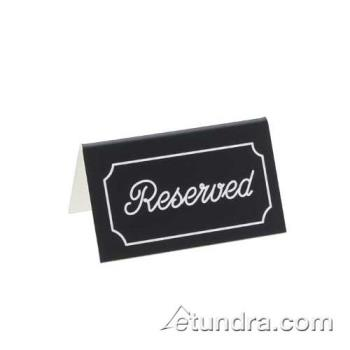 CLM2735 - Cal-Mil - 273-5 - White Two-Sided Engraved Reserved Message Tent Product Image