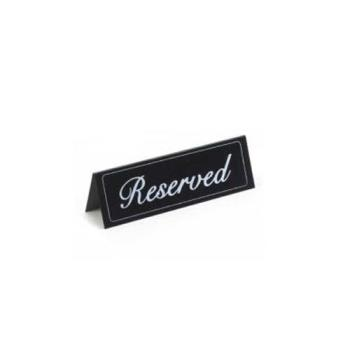 CLM283 - Cal-Mil - 283 - Large Black Vinyl Two-Sided Reserved Message Tent Product Image