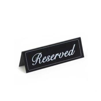 CLM285 - Cal-Mil - 285 - Small Black Vinyl Two-Sided Reserved Message Tent Product Image