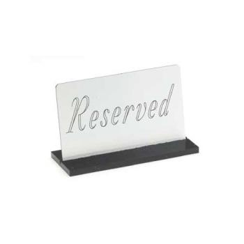 CLM95610 - Cal-Mil - 956-10 - Silver Reserved Sign w/Black Base Product Image