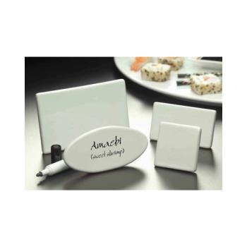 AMMCMP520 - American Metalcraft - CMP520 - 5 in x 2 3/8 in Oval Ceramic Card Sign Product Image