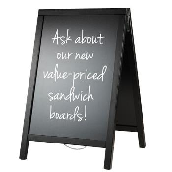AMMSBDBL55 - American Metalcraft - SBDBL55 - 22 in x 34 in Pine Sandwich Board Product Image