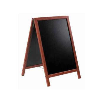 75697 - American Metalcraft - SBDM85 - 22 in x 34 in Mahogany Sandwich Board Product Image
