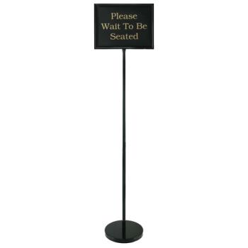 38560 - Commercial - Chrome Teller Sign w/ 15 Signs  Product Image