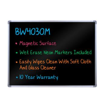 LUXBW4030M - Luxor - BW4030M - 40 in x 30 in Wall Mounted Black Marker Board Product Image