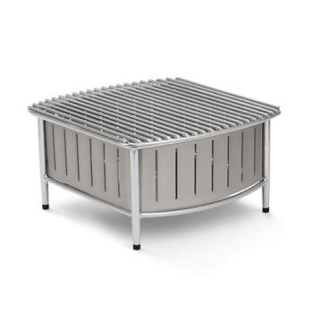 VOL4667480 - Vollrath - 4667480 - 16 in x 16 in Silver Buffet Station with Wire Grill Product Image