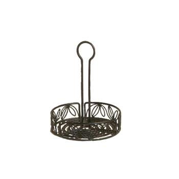 AMMLDCC16 - American Metalcraft - LDCC16 - Ironworks™ 6 1/4 in Leaf Iron Condiment Rack Product Image