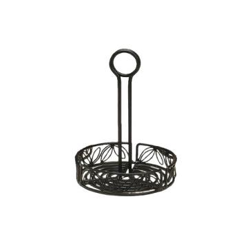 AMMLDCC17 - American Metalcraft - LDCC17 - Ironworks™ 7 1/2 in Leaf Iron Condiment Rack Product Image