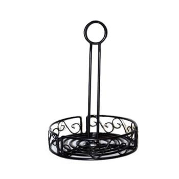 AMMWBCC7 - American Metalcraft - WBCC7 - Ironworks™ 7 1/2 in Scroll Iron Condiment Rack Product Image