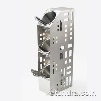 CLM160555 - Cal-Mil - 1605-55 - 3-Hole Stainless Steel Cylinder Holder Product Image