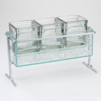 CLM1806739 - Cal-Mil - 1806-7-39 - Iced Silver 4 in Jar Display Product Image