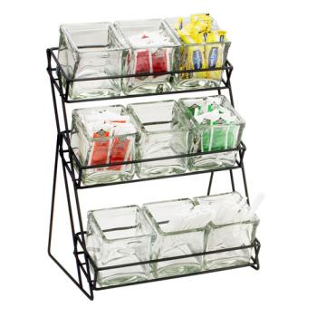 CLM1812 - Cal-Mil - 1812-13 - 3-Tier Black 4 in Jar Display Product Image