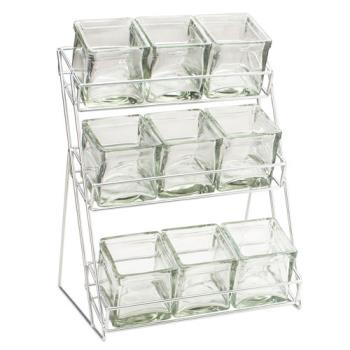 CLM1812 - Cal-Mil - 1812 - 3-Tier Black 4 in Jar Display Product Image
