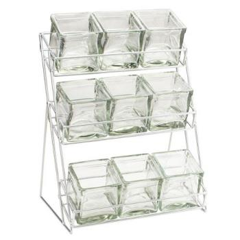 CLM181239 - Cal-Mil - 1812-39 - 3-Tier Silver 4 in Jar Display Product Image