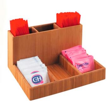 CLM79660 - Cal-Mil - 796-60 - 6 Section Bamboo Condiment Organizer Product Image
