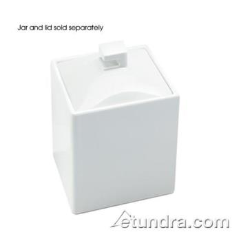 CLMC1432BODY - Cal-Mil - C1432BODY - 4 in x 4 in White Melamine Jar Product Image