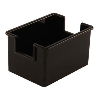 85726 - Winco - PPH-1K - Black Plastic Sugar Packet Holder Product Image