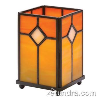 HLW1407OR - Hollowick - 1407OR - Orange Stained Glass Large Panel Lamp Product Image
