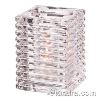 HLW1511C - Hollowick - 1511C - Clear Horizontal Rib Block Lamp Product Image