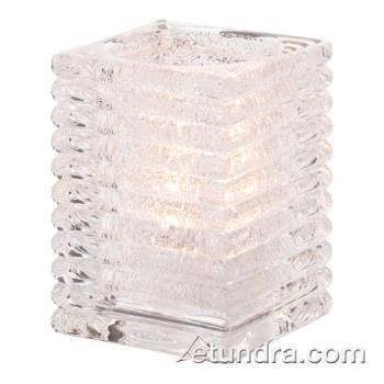HLW1511CJ - Hollowick - 1511CJ - Clear Jewel Horizontal Rib Block Lamp Product Image