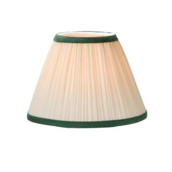 HLW296IGR - Hollowick - 296I+GR - Ivory & Green Fabric Candlestick Lamp Shade Product Image