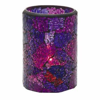HLW43017BP - Hollowick - 43017BP - Crackle Tall Blue & Purple Votive Lamp Product Image