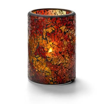 HLW43017RG - Hollowick - 43017RG - Crackle Tall Red & Gold Votive Lamp Product Image