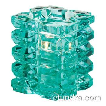 HLW5151AQ - Hollowick - 5151AQ - Aqua Faceted Cube Votive Lamp Product Image
