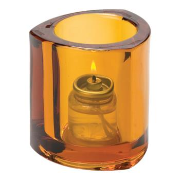 HLW5160A - Hollowick - 5160A - Amber Triangle Tealight Lamp Product Image