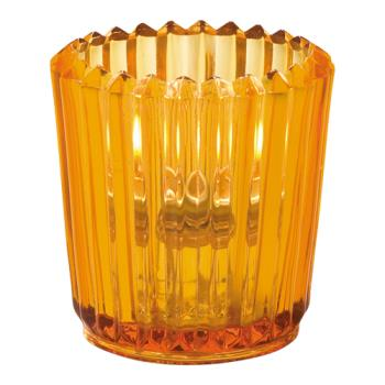 HLW5228A - Hollowick - 5228A - Amber Ribbed Tealight Lamp Product Image