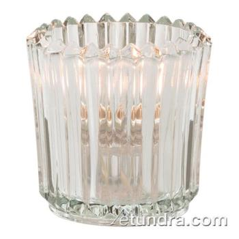 HLW5228C - Hollowick - 5228C - Clear Ribbed Tealight Lamp Product Image