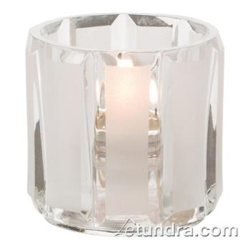 HLW5690CSC - Hollowick - 5690C+SC - Crystal & Satin Round Tealight Lamp Product Image